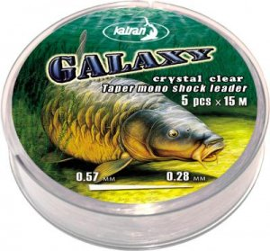 Taper mono shock leader GALAXY Camo cast 0,28-0,47 mm