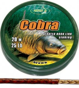 Coated braided hook links COBRA 25Lb 20m