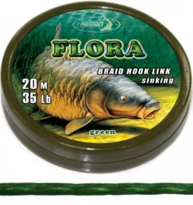 Braided hook links FLORA 25Lb 20 m